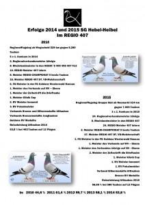 Erfolge 2014 - 15 SG Hebel Bilder